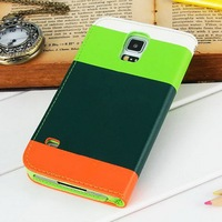 Hybrid wallet mobile phone case for Samsung S5 I9600 stand support 5 styles available