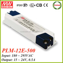 Meanwell constant current led driver PLM-12E-500