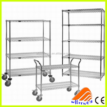 mobile storage rack remove floating handy shelf,cold room wire shelving ,Medium duty storage shelf