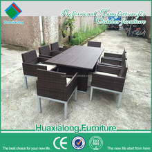 outdoor tables for parties and chairs sale set used for restaurant garden guangdong imported rattan dining furniture FWA-207-D