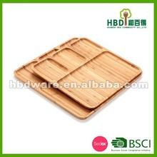 Nuovo prodotto di alta qualità bambù piatto da portata, piatto di bambù, piatto di legno ingrosso