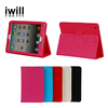 super thin table standing with smart cover function leather case for ipad2/ipad3/ipad4, for ipad leather case