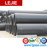 Blue plastic water pipe hdpe pipe manufacturing