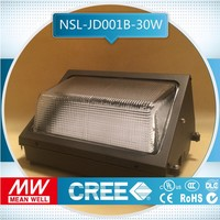 sample free of charge 36w dlc ul listed high power and more choice warm white led wall pack light 5 years warranty