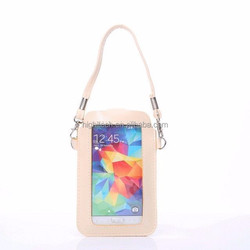 Beige Leather Mini Bag Case For Samsung Galaxy S5/S6/NOTE4 /Apple iPhone 6/6Plus