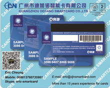Hi-co 2750 OE Magnetic membership card with card number and barcode