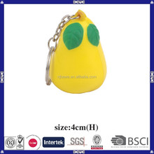 China supplier bulk pu keychain pear