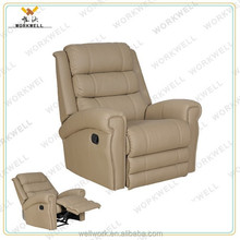 WorkWell most popular pu leather luxury recliner sofa Kw-Fu49
