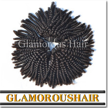 New Arrival Top Quality Cheap Natural Color 100% Virgin Brazilian Kinky Curly Hair kinky curly clip in hair extensions