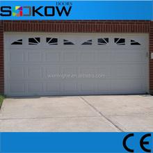 sectional garage door with polyurethane / sectional garage door with windows/CE approval garage door