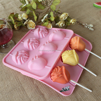 Hot Sale Nicole B0243 Food Grade Easy Unmold Cheap Silicone Rose Flower Lollipop Molds