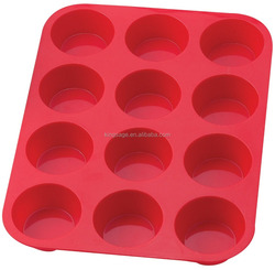 Silicone Non-Stick 12 Cup Surprise Cupcake or Muffin Pan