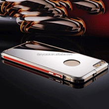 Mobile Accessories Metal Aluminium Bumper Luxury Cell Phone Cases Electroplating PC Back Cover For Iphone 6