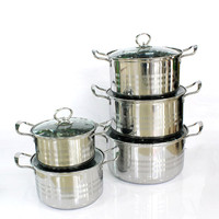 Chefs Classic Stainless Steel 10 Piece happy baron cookware set