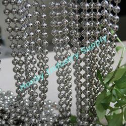 Honby Supply Shinning Silver Metal Beaded Door Curtain