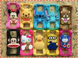 high quality selling cartoon universal silicon bumper case for iPhone 6s