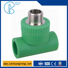 PP-R fitting male tee with stainless steel insert