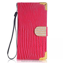 Alibaba express for samsung galaxy s6 protective case cover leather skin cases with diamonds