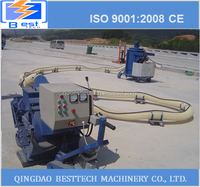 Shot blasting machine use for airport pavement rubber remove, surface marker line cleaning