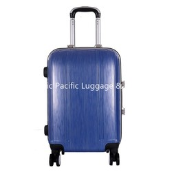 Pure PC Blue Hard Shell Trolley Luggage for Travelling