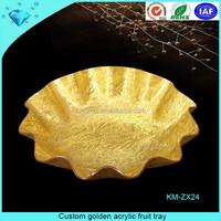 Custom golden acrylic fruit tray