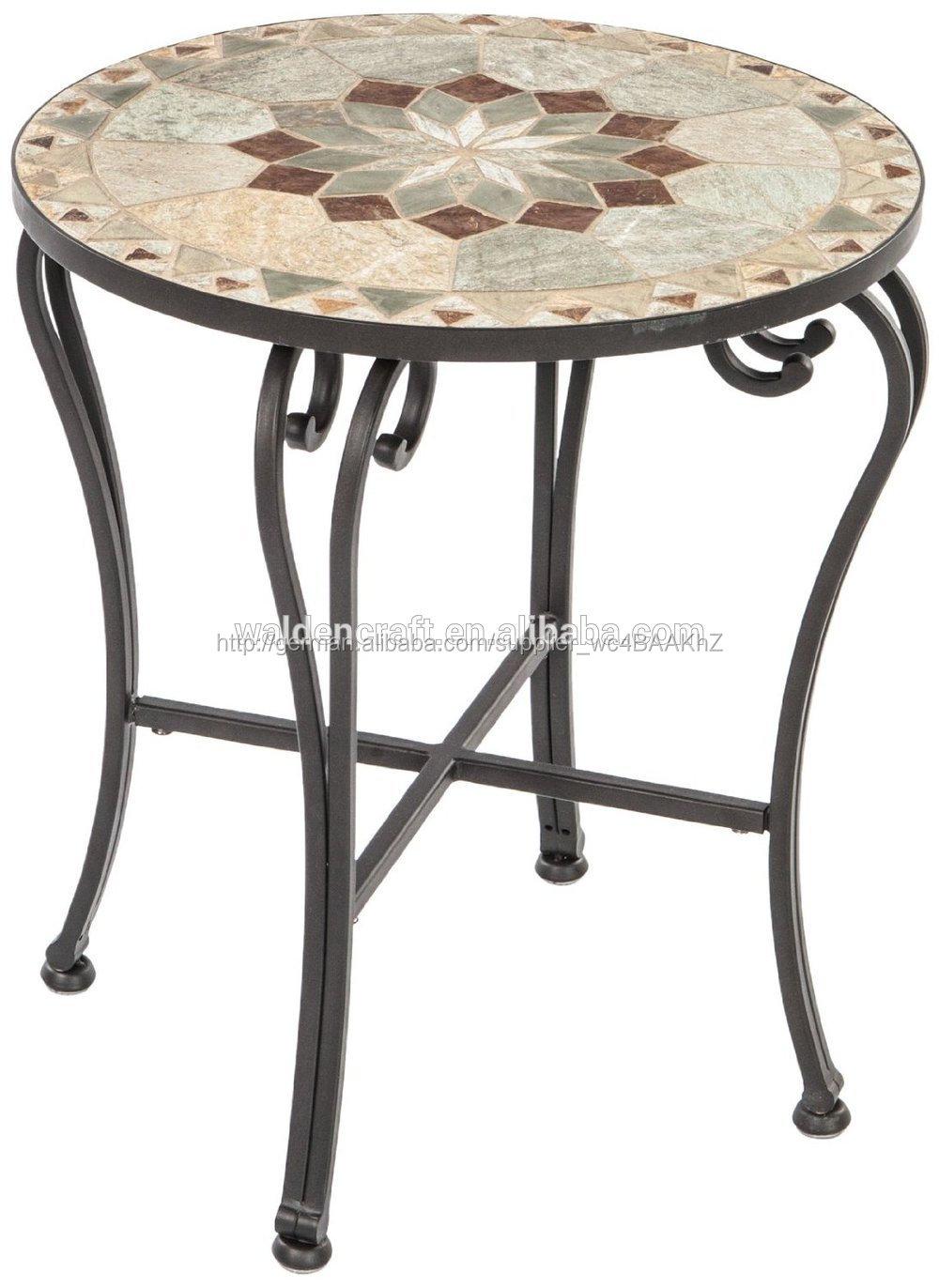 schmiedeeisen mosaikfliese bistro tisch hause gartenm bel. Black Bedroom Furniture Sets. Home Design Ideas