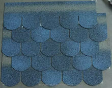Manufacturer For Fish Scale Asphalt Roof Shingles Blue