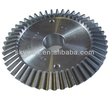 High quality alloy steel straight bevel gear with CNC milling service
