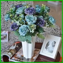 50431101 Factory wholesale cheap fabric artificial wedding flowers blue rose plants sale