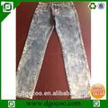 de alta calidad superior limpia los hombres de diseño de piedra de lavado denim slim fit jean para el hombre