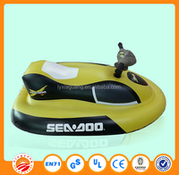 Professional customized PVC inflatable water scooter toy jet ski for kids