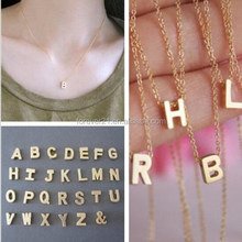 Fashion simple design charm necklace Gold initial necklace