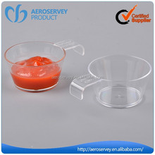Inflight product custom plastic mini dessert cup disposable