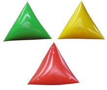 inflatable water floating triangular swimming marker buoys for sale