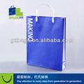 agradable color azul mango de plástico de regalo la bolsa de espera cosas pesadas