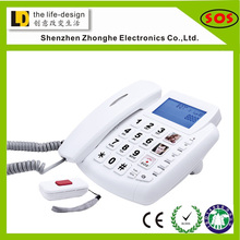 Newest high quality big button auto-dial SOS emergency phone with caller ID emergency call function.