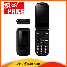 New Arrival 2.4INCH Flip Big Keyboard Big Font GSM GPRS/WAP Dual SIM Card Quad Band MTK6260 SOS Senior Mobile Phone T09