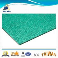 UV coated green embossed building plastic