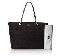 Black Adult Quilted Baby Diaper Bag Tote Bags For Ladies DB0410