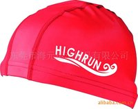 Adult Red Lycra Swimming caps