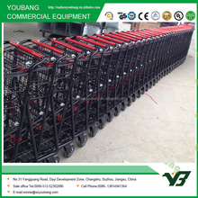Online Store Shopping Cart with Two Basket for Supermarket