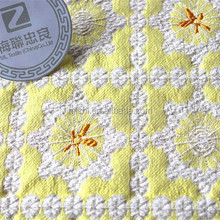 Royal style jacquard ploy and cotton fabric