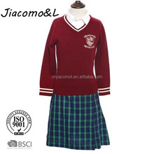 2015 Factory price school uniform dress kids uniform primary school uniform