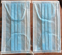 Disposable 2ply nonwoven face mask