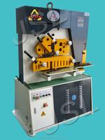 angle steel, iron round & square bar, flat plate Hydraulic cutting notching machine