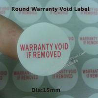 Tamper Proof Round Destructive Paper Warranty Sticker,Warranty Void If Removed Label Customized