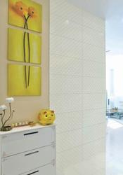 300x600mm Pure color simple modern porcelain room wall white embossed ceramic tile