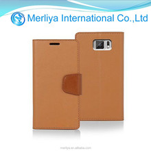 Mercury Goospery Brown Sonata Lambskin Leather Case for Samsung Galaxy S6