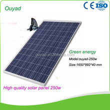 250W Poly solar panel in China with full certificate A-grade cell high efficiency 5W-300W PV solar panel