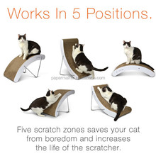 Recycle cat scratcher house per favors